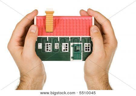 Hand Holding A Modelhouse