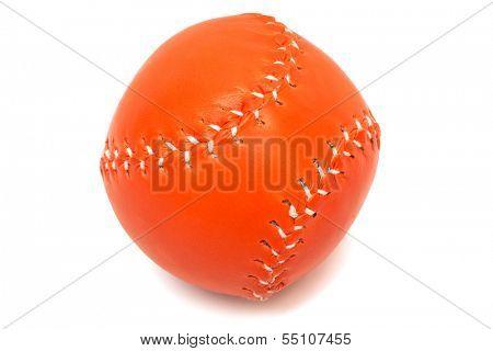 orange baseball ball on a white background