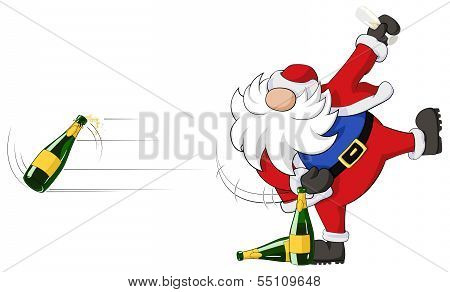 Party Christmas Cartoon, Bottle