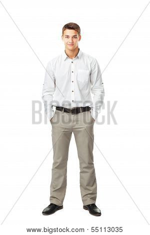 Full Length Portrait Of Young Man