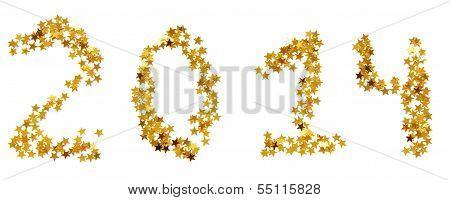 Twenty-fourteenth New Year of gold stars