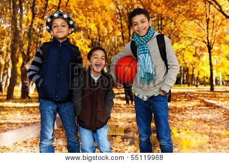 Black Boys With Basketball Ball