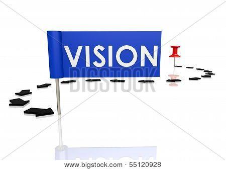 Push pin to vision
