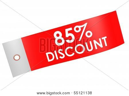 Discount 85 percent label