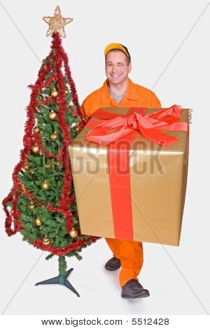 Supplier With Christmas Box