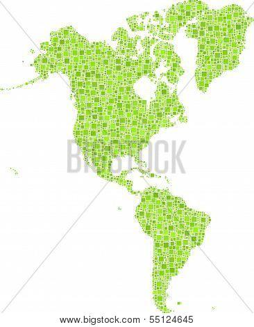 Decorative Map of America