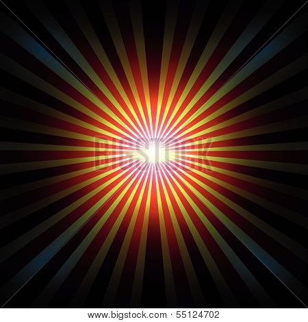 Background With Radial Rays