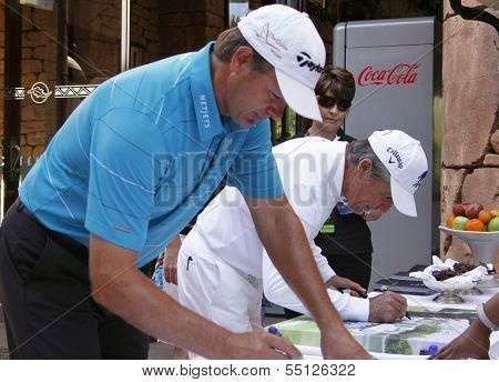 Goosen Retief And Payer Gary Pro Golfers