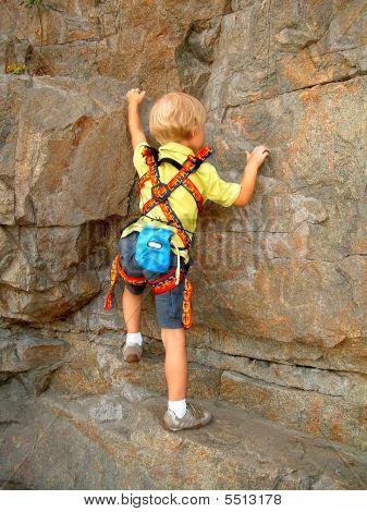 Young Rock Climber