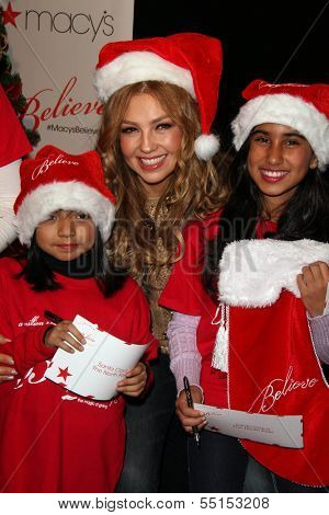 LOS ANGELES - NOV 6:  Thalia, Azucena Ortega, Analise Hoveyda at the Thalia and Make-A-Wish Celebrate National Believe Day Event at the Macy's on November 6, 2013 in Glendale, NV