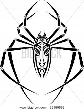 spider tattoo for back
