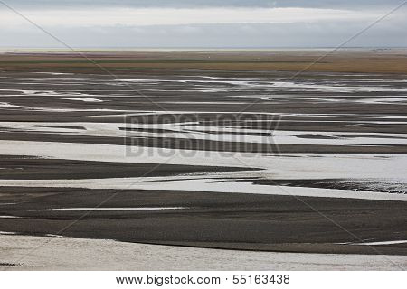 Plain Formed Of Glacial Sediments Iceland