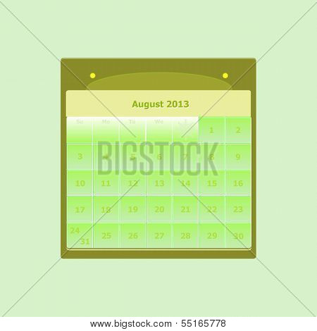 Design Schedule Monthly August 2014 Calendar