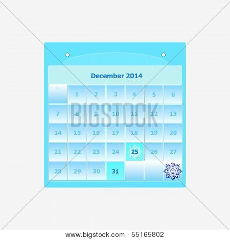 Design Schedule Monthly December 2014 Calendar