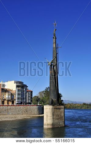 TORTOSA, SPAIN - NOVEMBER 25: Monumento a los Caidos en la Batalla del Ebro on November 25, 2013 in Tortosa, Spain. This is a memorial to the dead people on the side of Franco in the Spanish Civil War