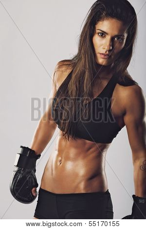 Kickboxing Fighter With An Intense Look