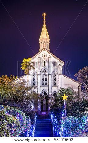 NAGASAKI - DECEMBER 9: Oura Roman Catholic Church December 9, 2012 in Nagasaki, Japan. Oura is said to be the oldest Christian church in Japan.