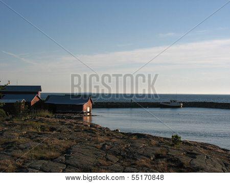 Little Harbour On Aland Island