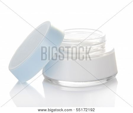 Jar with cream facials