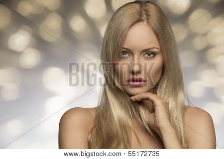 Blonde Girl With Natural Look