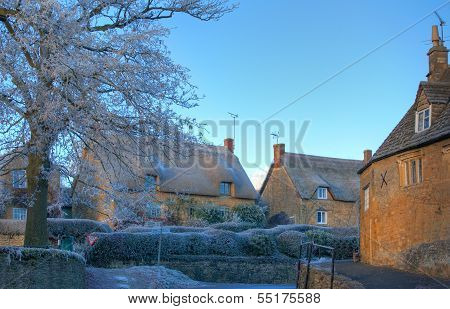 Cotswold Village in Winter