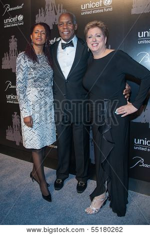 NEW YORK-DEC 3: Eliane Cavalleiro, Danny Glover and Caryl Stern (R) attend the 9th Annual UNICEF Snowflake Ball at Cipriani Wall Street on December 3, 2013 in New York City.