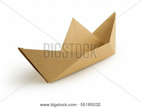 recycled paper boat