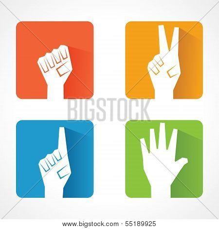 Different shape of hand