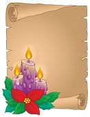 Christmas thematic parchment 5 - eps10 vector illustration.