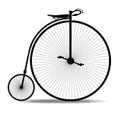 picture of penny-farthing  - A typical penny farthing bicycle over a white background - JPG
