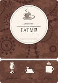 Menu for restaurant, cafe, bar, coffeehouse. Vector illustration with cup coffee, tea, cocktails