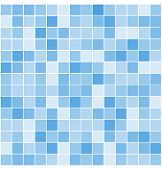 pic of tile  - blue vector tiles mosaic background - JPG