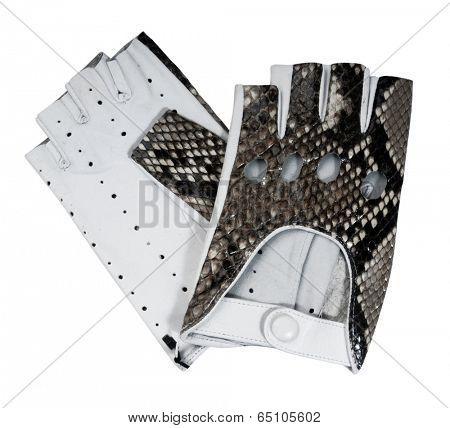 fingerless gloves isolated on white