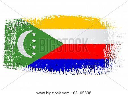 Brushstroke Flag Comoros