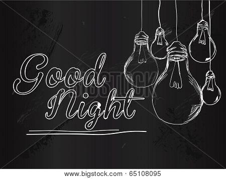 Good Night Bulbs Vector Background