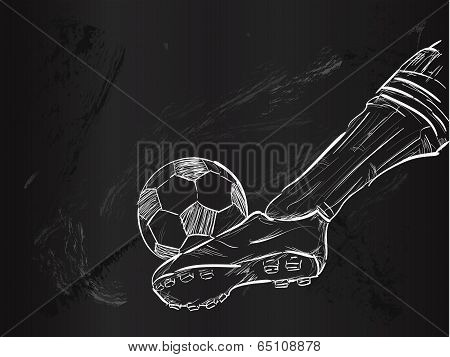 Kick Ball Sketch Vector