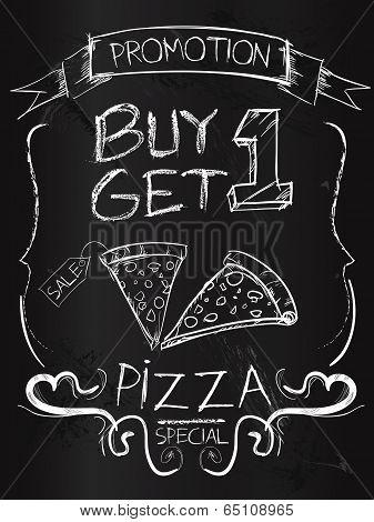 Buy one Get one pizza on blackboard