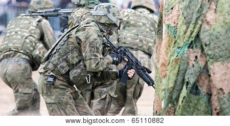 Wroclaw, Poland - May 10. 2014 Soldier On Military Show On May 10, 2014 In Worclaw, Poland
