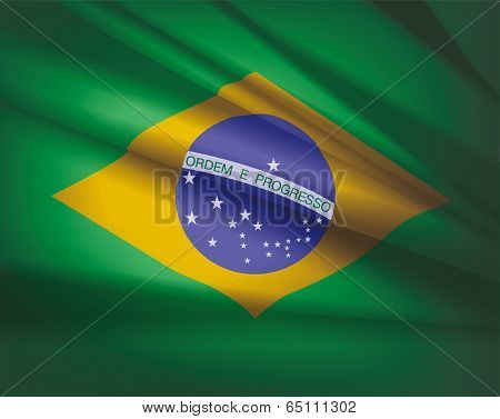 Flag Of Brazil, Vector Illustration