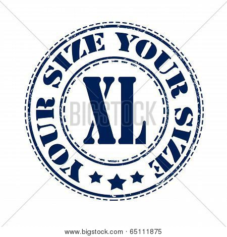 Your Size Xl Stamp