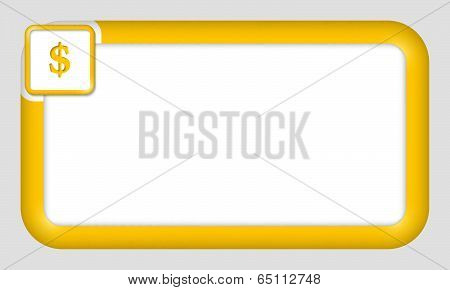 Vector Frame For Text Insertion With Dollar Sign