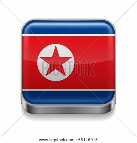 Metal  icon of North Korea