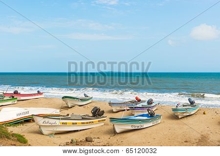 Fisherman Boats In El Rompio, Panama