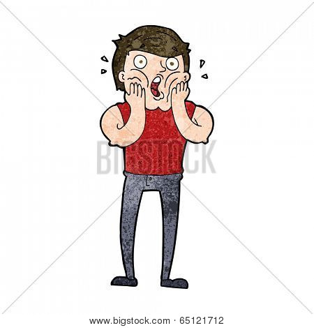 cartoon gasping man