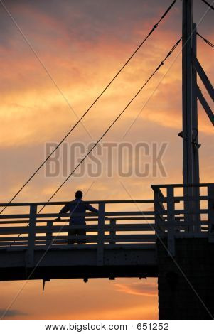 Man Watching Sunset
