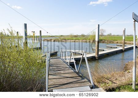Wooden Landing Place At Waterside
