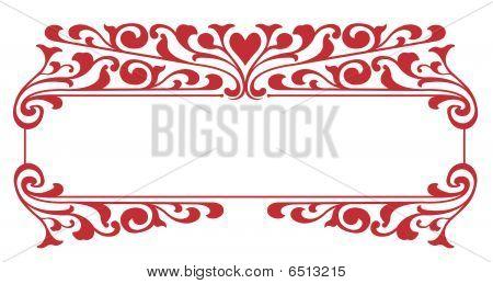 Victorian Heart Nameplate
