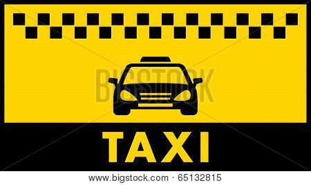 taxi background with place for text