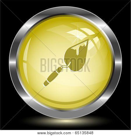 Trowel. Internet button. Vector illustration.
