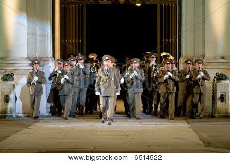 Modena, Italy - July 9 : Ukraine Military Band During International Concert Of Military Bands On Jul